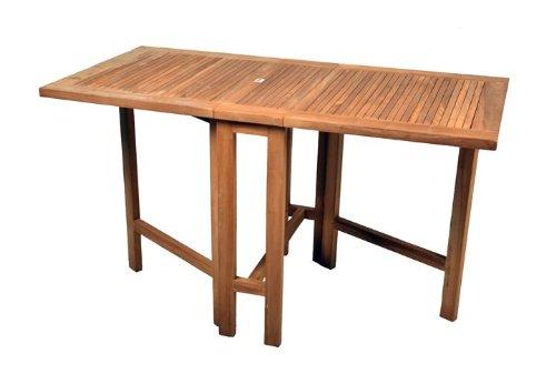 DIVERO-GL05527-Klapptisch-Balkontisch-Gartentisch-Esstisch-Holz-Teak-Tisch-fr-Terrasse-Balkon-Wintergarten-witterungsbestndig-behandelt-massiv-klappbar-130x65-cm-natur-0