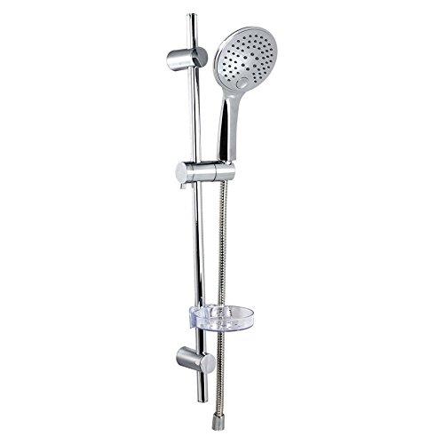 DUSAR Handbrause mit Duschstange Duschset Slim Neo 3 Duschschlauch Duschbrause Duschkopf Brausekopf Kopfbrause Handdusche mit Halterung und Brauseschlauch