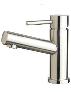 DeLanwa Edelstahl Waschtisch Bad Armatur Eingriffmischer matt gebürstet b25, 602250.0