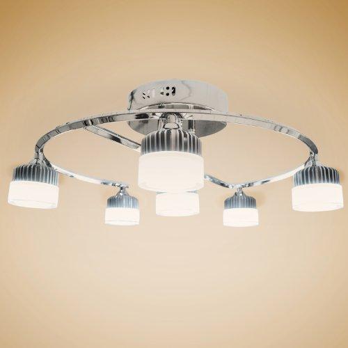 Deckenlampen led wohnzimmerlampe gestell chromfarben for Wohnzimmerlampe led
