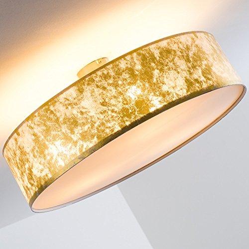 Deckenleuchte-mit-Stoffschirm-Foggia-gold-60-cm-3-x-E27-0