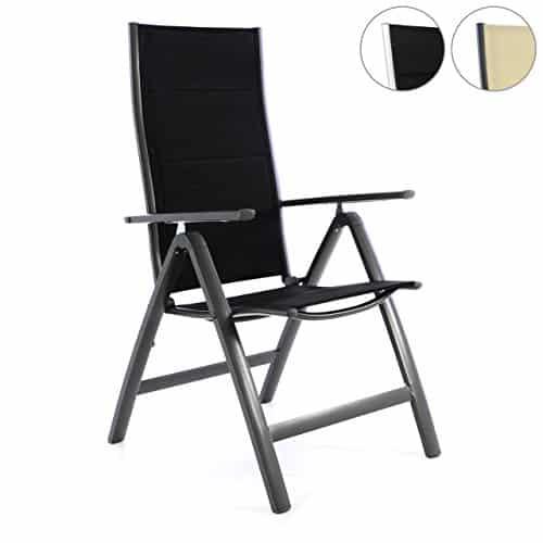Deluxe-Alu-Klappstuhl-gepolstert-schwarz-creme-Gartenstuhl-Relaxstuhl-Campingstuhl-Rahmen-silber-anthrazit-0