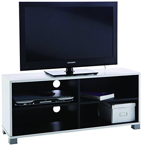 Demeyere 453218 TV-Bank Grafit, weiß / schwarz