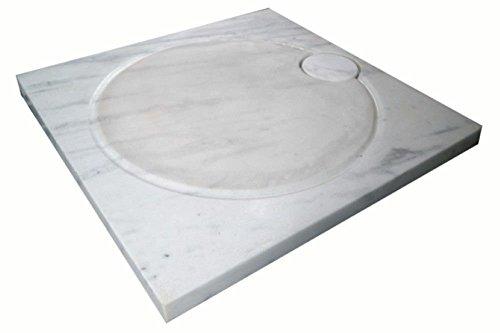 Design Duschwanne aus Naturstein, Duschtasse, Marmor, 90*90cm, weiß