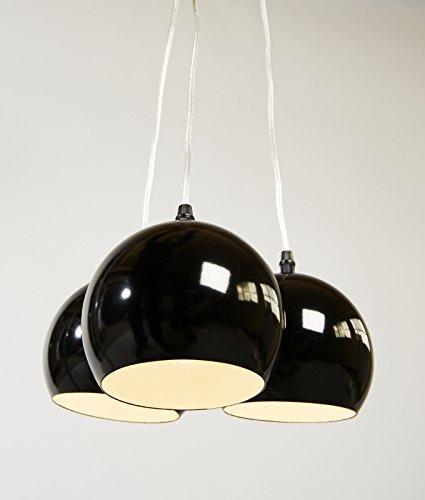 Design HÄNGELEUCHTE TRIAS schwarz / stilvoll und elegant / Blickfang für Ihr Zuhause