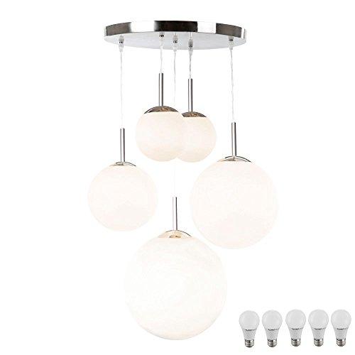 Design Hange Lampe Kugel Decken Pendel Leuchte Im Set