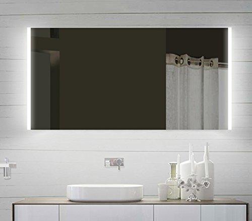 Design LED Badezimmerspiegel Badspiegel Lichtspiegel mit Led Beleuchtung 120 x 60 cm