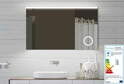 Design LED Badezimmerspiegel Badspiegel Lichtspiegel mit Schminkspiegel mit Beleuchtung 100x60 cm