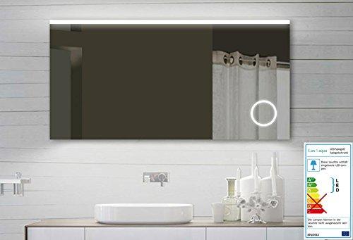 Design LED Badezimmerspiegel Badspiegel Lichtspiegel mit Schminkspiegel mit Beleuchtung 120x60 cm