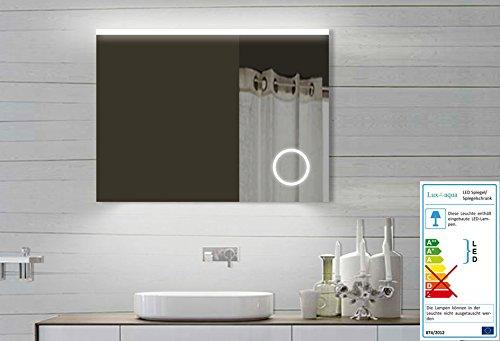 Design LED Badezimmerspiegel Badspiegel Lichtspiegel mit Schminkspiegel mit Beleuchtung 80x60 cm