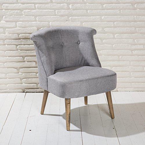 design polstersessel sessel roma beige m angedeuteter armlehne stoff holz m bel m bel24. Black Bedroom Furniture Sets. Home Design Ideas