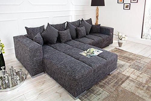 Design-XXL-Sofa-BIG-SOFA-ISLAND-in-grau-charcoal-Strukturstoff-inkl-Kissen-0