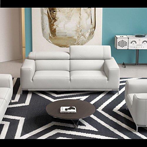 Designer Ledersofa Ledercouch Zweisitzer Polstergarnitur Sofa 2-Sitzer Couch