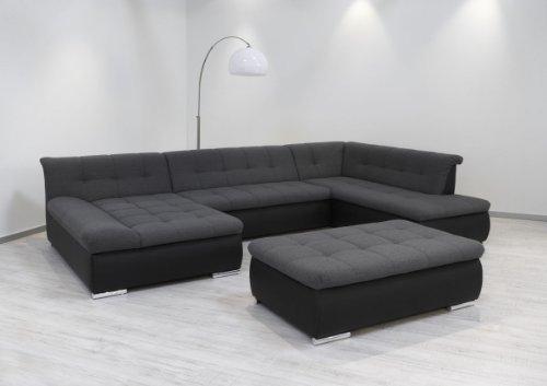 Dreams4Home-Polsterecke-Aulis-Sofa-Wohnlandschaft-Ecksofa-Couch-XXL-Schlaffunktion-anthrazit-schwarz-Ausfhung-AnschlagMit-Schlaffunktion-Ottomane-rechtsHockermit-Hocker-0
