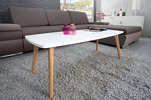 DuNord Design Couchtisch STOCKHOLM 110 cm weiss