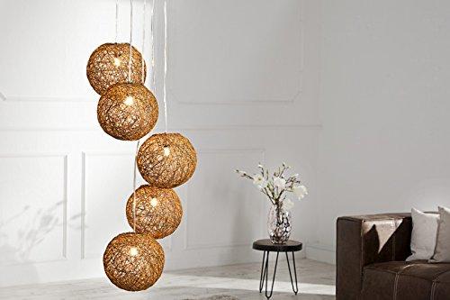 DuNord Design Hängelampe Hängeleuchte BOZZOLO PEARL braun 20cm