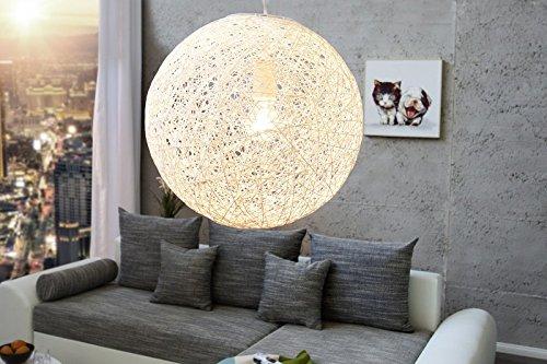 DuNord Design Hängelampe Hängeleuchte BOZZOLO weiss 35cm
