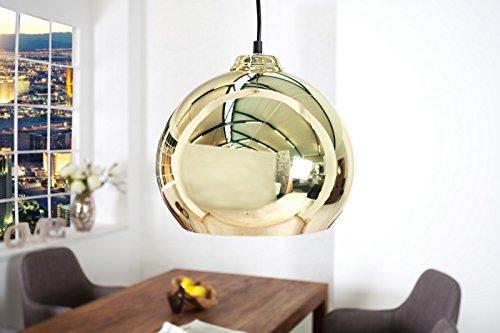 DuNord Design Hängelampe Hängeleuchte CHROMATRON gold