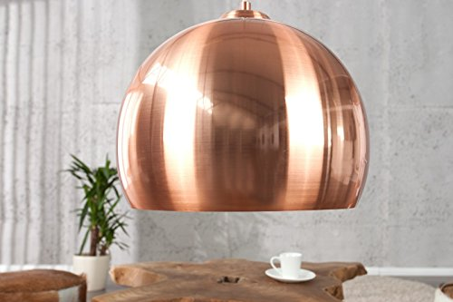 DuNord Design Hängelampe Hängeleuchte COPPER BALL kupfer 30 cm