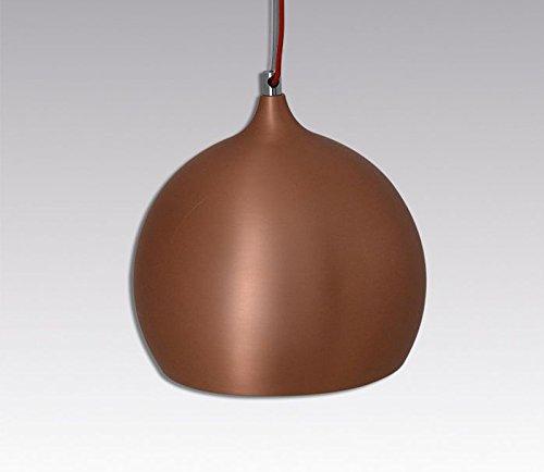 DuNord Design Hängelampe Hängeleuchte RETRO BALL kupfer LED Leuchtmittel incl.