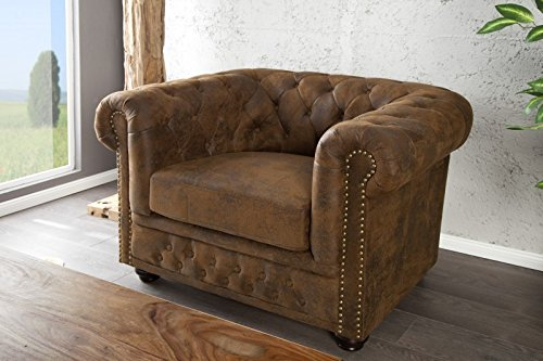 dunord design sessel chesterfield antik look 0 m bel24. Black Bedroom Furniture Sets. Home Design Ideas