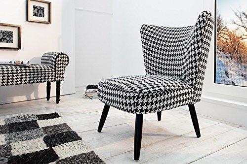 DuNord-Design-Sessel-MARTA-schwarz-weiss-Pepita-0
