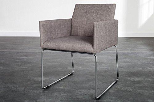 DuNord Design Stuhl MARCO Strukturstoff grau Esszimmerstuhl