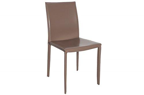 DuNord Design Stuhl VERONA grau Leder