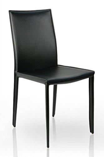 DuNord Design Stuhl VERONA schwarz echt Leder