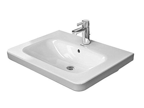 Duravit DuraStyle Möbelwaschtisch mit Überlauf, 800 mm, 3 Hahnlöcher 800 x 480 22,5 8 mm, weiß 23208