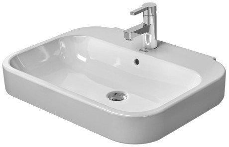Duravit Happy D.2 Waschtisch weiß 600 mm, 600 x 475 mm, mit Wondergliss, 23166000001
