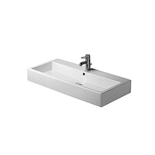 Duravit Waschbecken Vero Breite 100cm 1 Hahnloch geschliffen weiß 454100027
