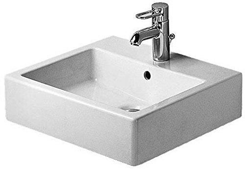 Duravit Waschbecken Vero Breite 50cm ohne Hahnloch, schwarz, 454500860