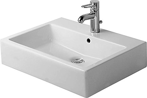 Duravit Waschbecken Vero Breite 60cm ohne Hahnloch, schwarz mit Wondergliss Beschichtung, 454600860