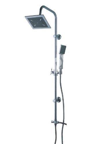 Dusch-Komplett-Set-Duschset-Dusche-Duschgarnitur-Brausegarnitur-mit-Verkalkungsschutz-Duschkopf-und-Handbrause-Duschsule-Duscharmatur-Duschsystem-0