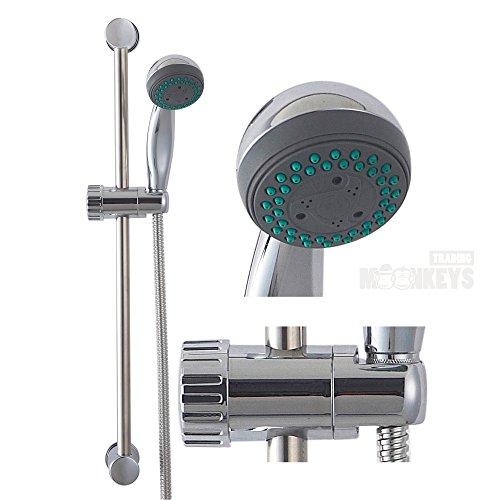 Dusch Set Duscharmatur Brause Garnitur Duschkopf Handbrause Duschstange Bad
