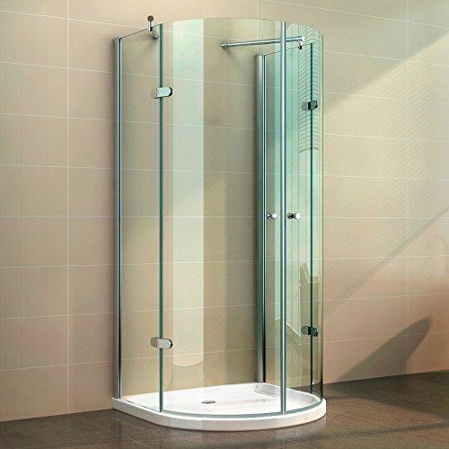 Duschkabine U Form Duschabtrennung U Duschwand NANO-Versieglung ESG-Echtglas, Glas-Ausführung:Klarglas;Maße:800 x 800 x 1900
