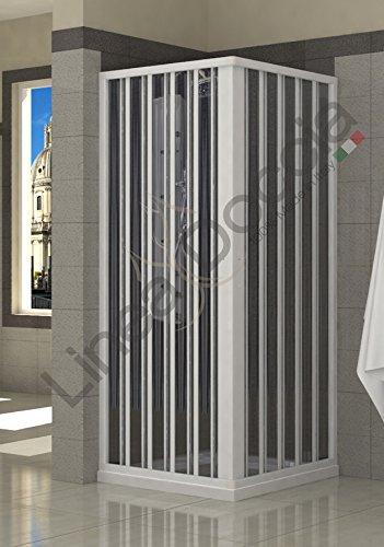 Duschkabine aus PVC - 80x80 cm