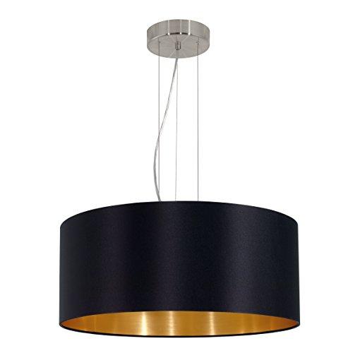 EGLO-31605-Hngeleuchte-Maserlo-Durchmesser-53-cm-Nickel-Matt-Schirm-schwarz-gold-stahl-0