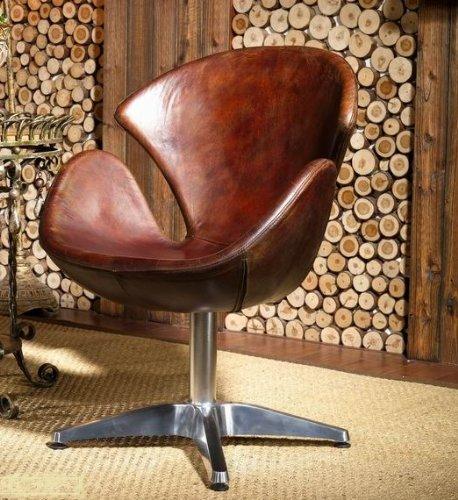 Echtleder-Egg-Chair-Leder-Sessel-Vintage-Ledersessel-Design-Lounge-Clubsessel-Mbel-Drehsessel-435-0