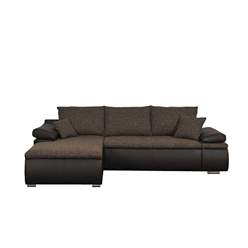eck schlafsofa in braun schwarz modern pharao24 m bel24. Black Bedroom Furniture Sets. Home Design Ideas