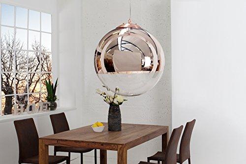 Edle-Design-Hngelampe-GLOBE-30cm-Glas-Kupfer-Kugelleuchte-0