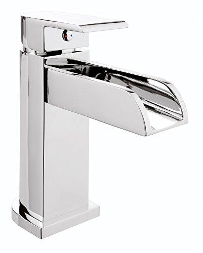 Einhandmischer-Aqua-fr-Waschtisch-Wasserfall-Schwallauslauf-Chrom-Wasserhahn-Einhebelmischer-Armatur-0