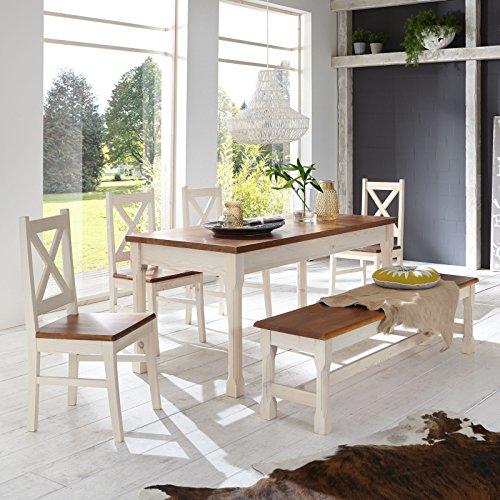 Essgruppe-KRETA-Essecke-Pinie-Set-Esstisch-4-Sthle-Bank-Massiv-Holz-Garnitur-0