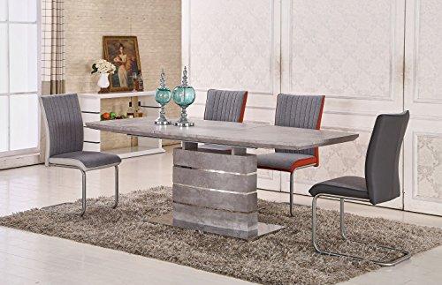 Esstisch-ausziehbar-Daures-01-eckig-Farbe-Zement-Abmessungen-160-200-x-90-cm-B-x-T-0