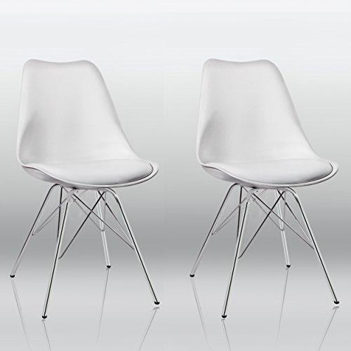 Esszimmerstuhl-2er-Set-in-Wei-Kchenstuhl-Kunststoff-mit-SItzkissen-Stuhl-Vintage-Design-Retro-Duhome-0551-0