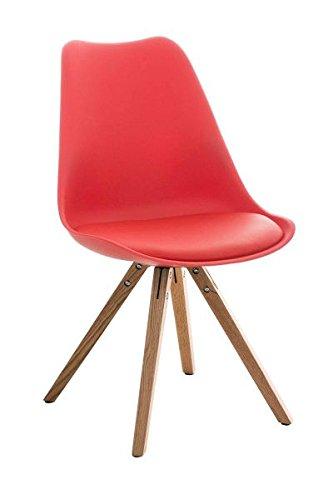 Esszimmerstuhl, Küchenstuhl, Lehnenstuhl, Sitzgelegenheiten, Besucherstuhl, Stuhl, Wartezimmerstuhl, Wohnzimmerstuhl Materialmix natura rot #PeglegS