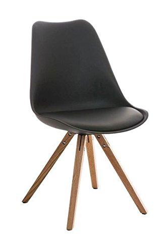 Esszimmerstuhl, Küchenstuhl, Lehnenstuhl, Sitzgelegenheiten, Besucherstuhl, Stuhl, Wartezimmerstuhl, Wohnzimmerstuhl Materialmix natura schwarz #PeglegS
