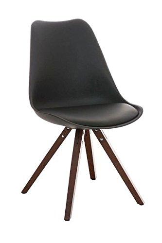 Esszimmerstuhl, Küchenstuhl, Lehnenstuhl, Sitzgelegenheiten, Besucherstuhl, Stuhl, Wartezimmerstuhl, Wohnzimmerstuhl Materialmix walnuss schwarz #PeglegS