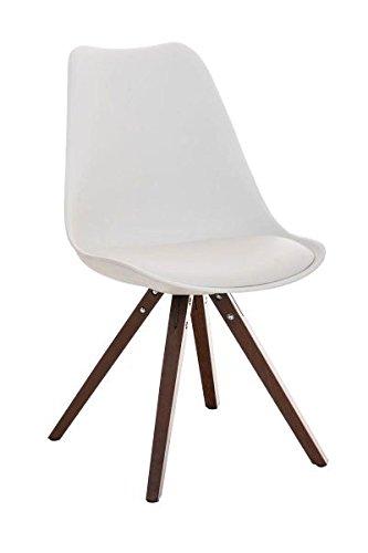 Esszimmerstuhl, Küchenstuhl, Lehnenstuhl, Sitzgelegenheiten, Besucherstuhl, Stuhl, Wartezimmerstuhl, Wohnzimmerstuhl Materialmix walnuss weiß #PeglegS
